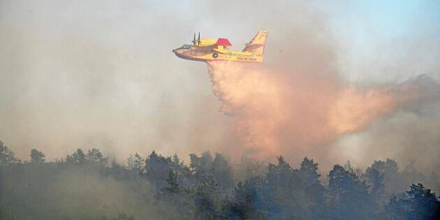 Stor skogsbrandsövning i norra Sverige