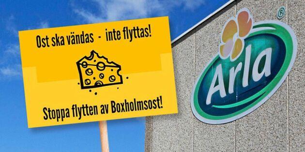 Ostmarsch ska få Arla att dra tillbaka kritiserat beslut om Boxholms Ost