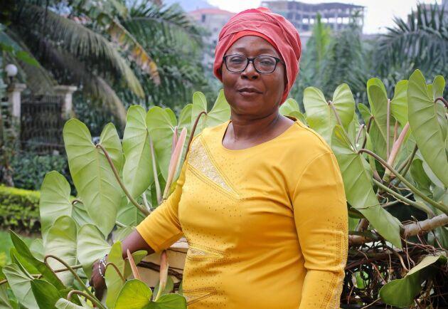 Blandine l'Or Ougoguia på branschföreningen GFBC i Kamerun.