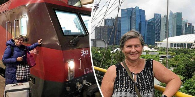 SVT-meteorologen Helen Tronstad reste till Thailand –med tåg!