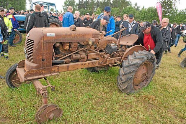 Alla traktorer var inte i bra skick. En del hade stått stilla väldigt länge.