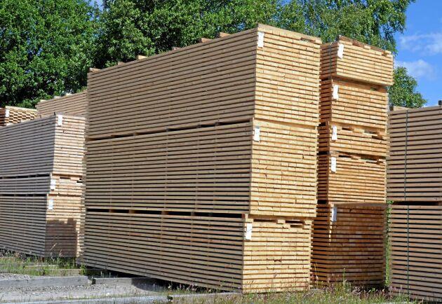 Exportpriserna på trävaror stiger.