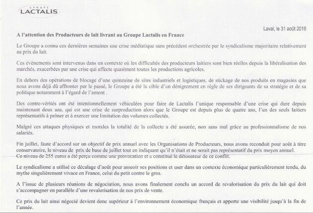 """Emmanuel Besnier, vd för Lactalis, är väldigt hemlighetsfull. Men i ett brev riktad till franska mjölkbönder säger han att fackförbunden ligger bakom en """"smutskastningskampanj"""" mot Lactalis."""