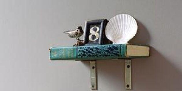 Bygg kul hyllor av gamla böcker