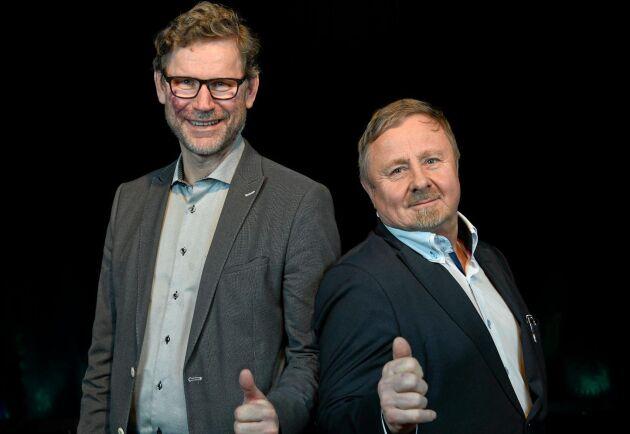 Vid extrastämmorna valdes Torgny Hardselius till ordförande (till höger) och Stig Högberg till vice ordförande för den nya föreningen Norra Skog.