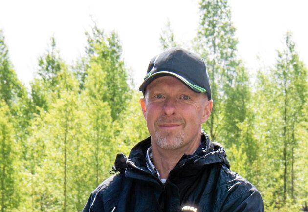 Hans Källsmyr, skadesamordnare på Skogsstyrelsen.