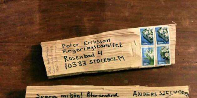 Vedspisupproret postar vedträn i protest