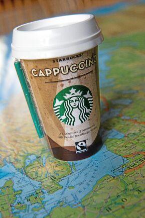 Starbucks Cappuccino är registrerad för försäljning i Ryssland och finns i 1 350 butiker.