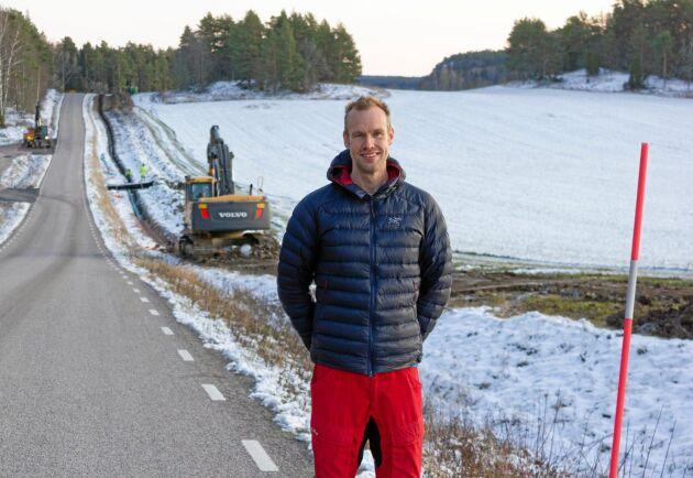 Dennis Wiström, kommunagronom i Västervik och ansvarig för projektet.