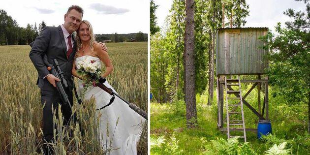 Jägaren friade med ett annorlunda krav – nu har de gift sig!