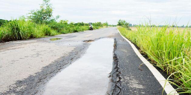 Här finns Sveriges sämsta vägar - allra flesta finns i norr