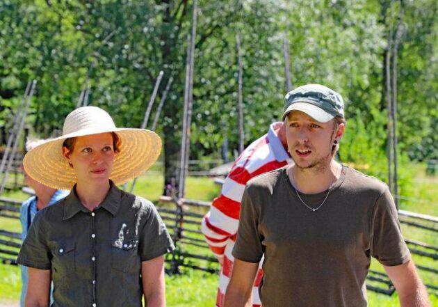 Joel Holmdahl driver Rikkenstorps andelsjordbruk tillsammans med sin fru Maria Danielsson.