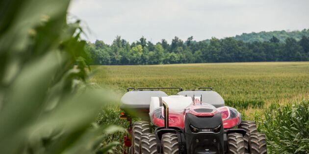 Mindre packat med självkörande traktor