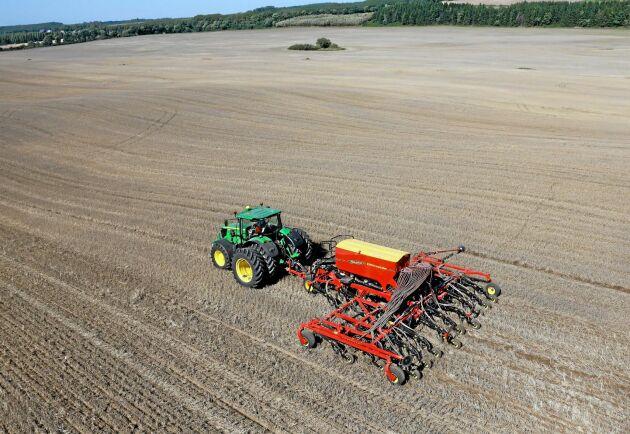 Direktsådden är ständigt utmanad av kraven på minskad användning av växtskyddsmedel.