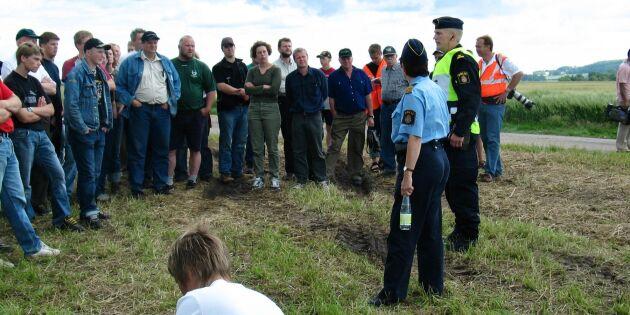 """Polisen: """"Vi har järnkoll på trakasserierna mot lantbrukare"""""""