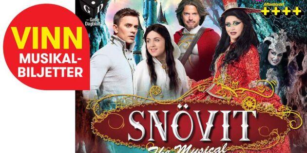 """AVSLUTAD: Vinn biljetter till """"Snövit – The Musical"""""""