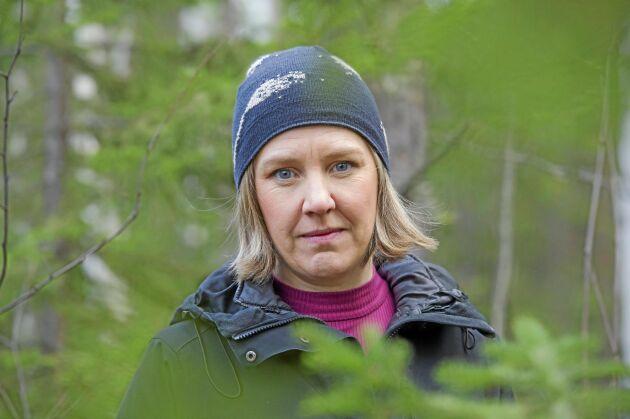 Miljöminister Karolina Skog uppskattade sitt besök på en skogsgård i Norrbotten.