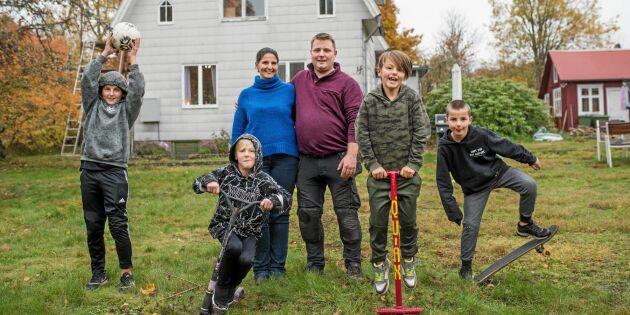 Barnfamiljer flyttar in i Alsterbros tomma hus