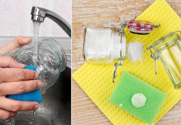De värsta etiketterna går att ta bort med en giftfri röra – en hemgjord lim-lösare!