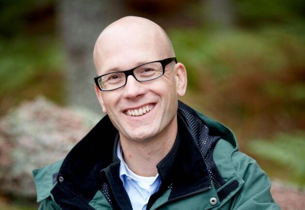 """""""Vi står för ett offensivt skogsbruk och avverkar det vi kan, all tillgänglig tillväxt"""", säger Fredrik Klang."""