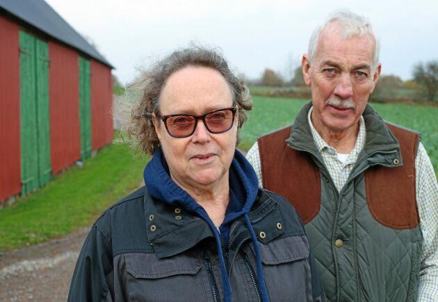 Mjölkbönderna Eva-Karin och Per Logård gillar inte planerna på en gruva på Österlen.
