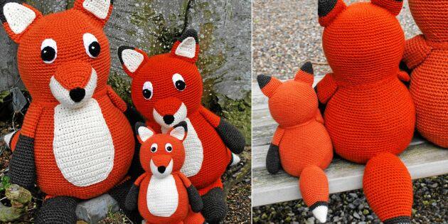 Listigt mönster: Virka hela familjen räv