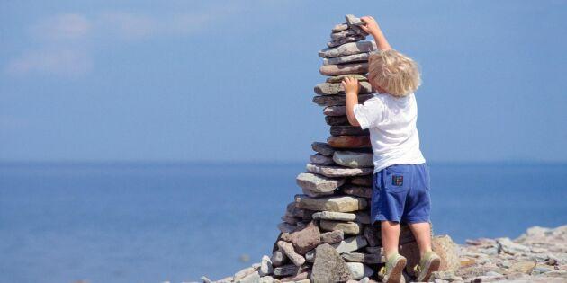Därför kan turisterna inte låta bli att bygga stentorn på Gotland