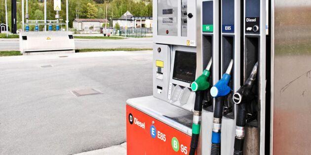Chockhöjningen: Så mycket steg bensinpriset i dag