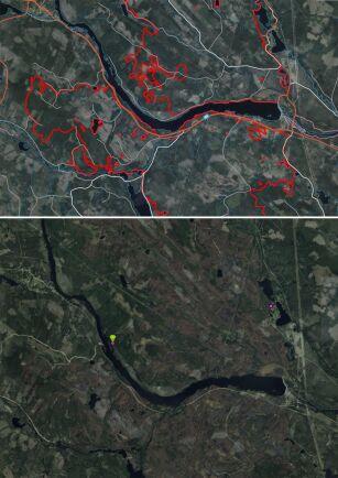 Karta Over Skogsbrander I Sverige.Lantmateriet Har Flygfotograferat Skogsbrander Land Skogsbruk