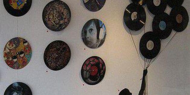 LP-tavlan ger väggen ett lyft