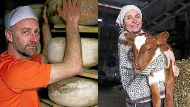 Pär och Johanna Hällström driver gårdsmejeriet Svedjan Ost i Västerbotten.