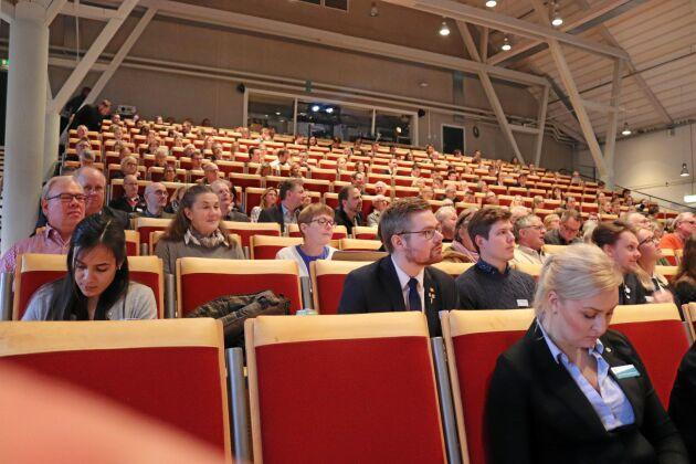 Runt 300 personer gästade Alnarpskonferensen på torsdagen vilket innebar att aulan på Alnarpsgården nästan var fullsatt.