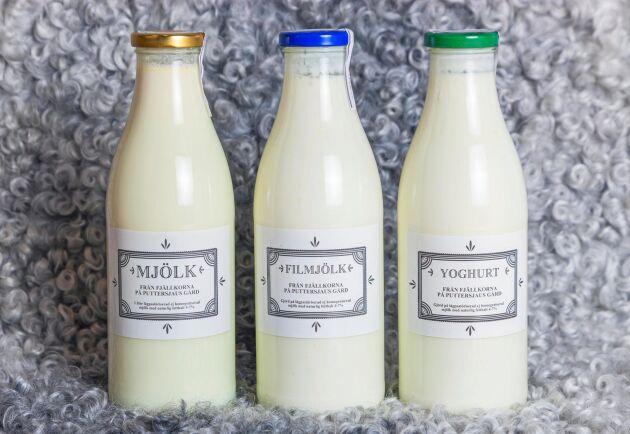 Puttersjaus gård i Rute på Gotland, som producerar mjölk från kor som enbart äter gräs, är ett av mejerierna som är anslutna till Smakriket.