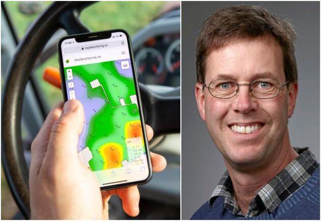Bo Stenberg, forskningsledare för precisionsodling vid Sveriges Lantbruksuniversitet.