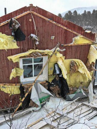 Hus totalförstördes i Saltoluokta i helgen.
