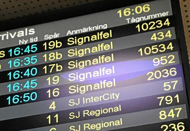 Förseningar är ett vanligt inslag i tågtrafiken.