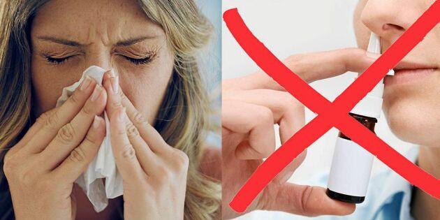 5 naturliga knep för att lindra nästäppa – utan nässpray
