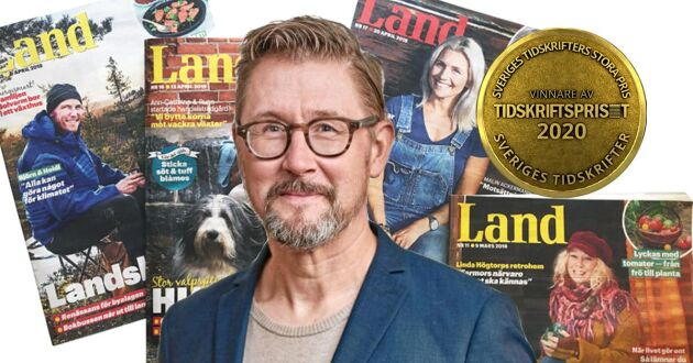 Joel Linderoth, chefredaktör på Land.