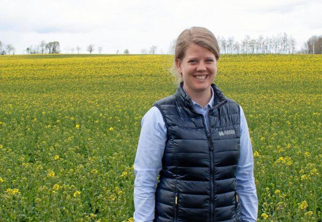 Johanna Öwall, produktansvarig för växtodling på Svenska Foder.