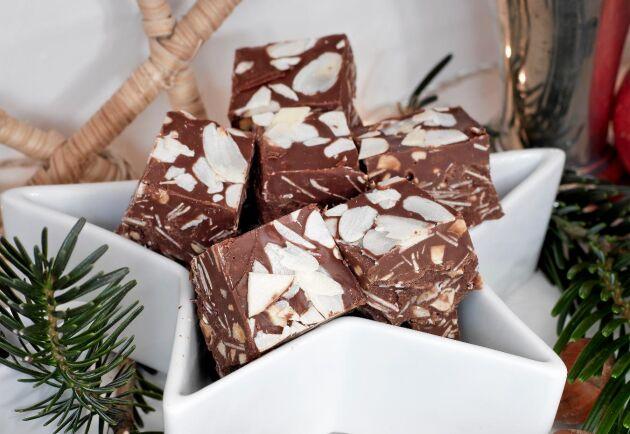 I jul smakar hemgjort godis bäst. Här med smak av ljuvlig wienernougat.