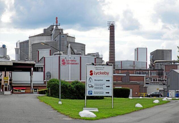 Lyckeby Starchs fabrik i Nöbbelöv utanför Kristianstad.