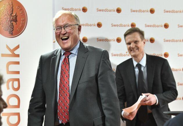 Det var en nöjd och pratglad Göran Persson som mötte både aktiesparare och medier på stämman.