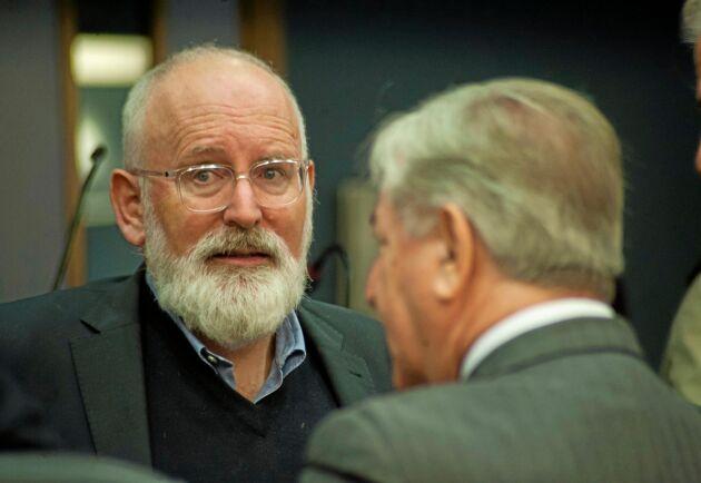 Frans Timmermans är vice ordförande i EU-kommissionen och den som har det övergripande ansvaret för den gröna given.