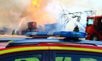 Våldsam brand förstörde två ladugårdar