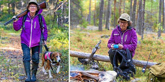 """Sargit tog jägarexamen som 82-åring: """"Skogen håller mig frisk"""""""