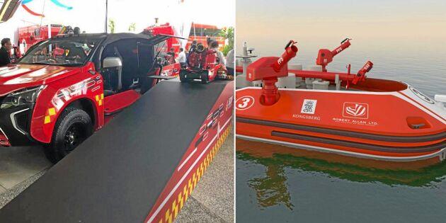 Stora satsningar på fjärrstyrd brandbekämpning