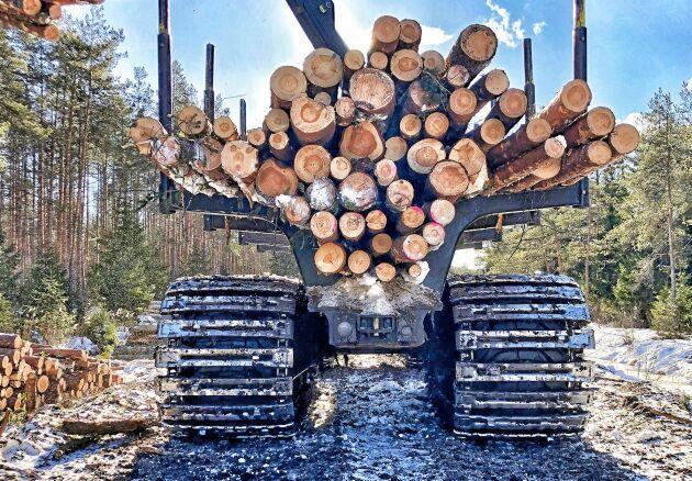Olofsfors har satt nya produktionsrekord för skogsmaskinband.