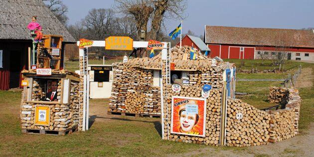 Egons populära vedkonst står åter redo för besökare i Gökhem!