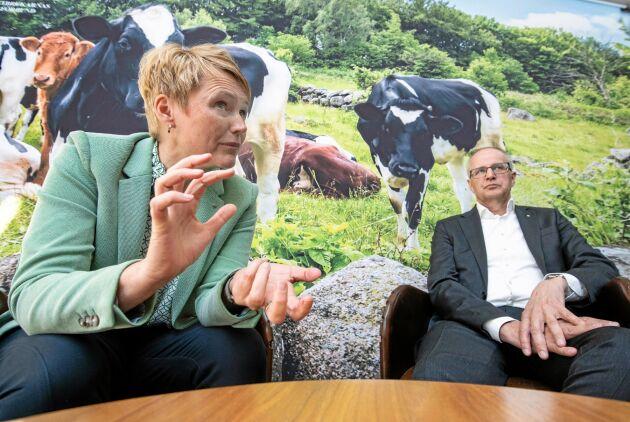 Påverkan. Anna Karin Hatt och Palle Borgström talar om det arbete LRF gjort under coronakrisen, bland annat med att få livsmedelsproduktion att klassas som samhällsviktig verksamhet, och vad det kan innebära för demokratin att genomföra stämman digitalt.