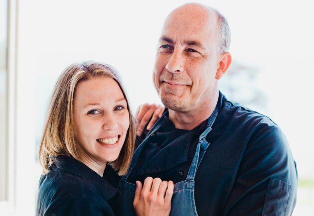 Helena Marklund och Jonas Björklund driver gården Bengtsgården på Visingsö.
